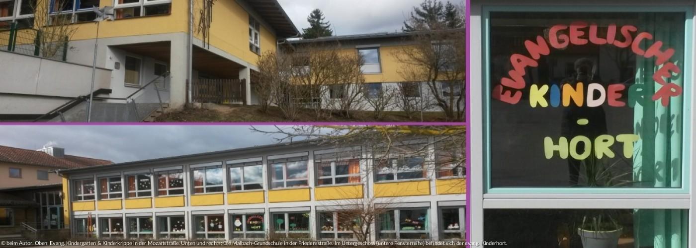Kindergarten, Kinderkrippe und Kinderhort